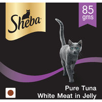 Sheba (Premium Cat Food) Pure Tuna White Meat In Jelly, 85 Gm Can