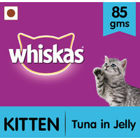 Whiskas Wet Meal (Kitten - Cat Food) Tuna In Jelly, 85 Gm Pouch