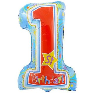 Anagram International One-Derful Birthday Boy Shape Balloon, 28