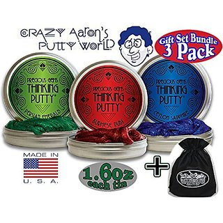 Crazy Aarons Thinking Putty Precious Gems Gift Set Bundle Including