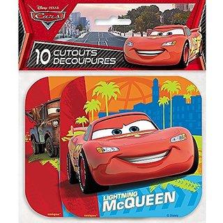 Paper Cutout Disney Cars Decorations, 10ct