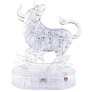 Coolplay CP9044A DIY 3D Crystal Puzzle with Flash Light Constellation Series - Taurus