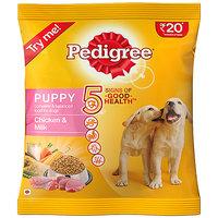 Pedigree (Puppy - Dog Food) Chicken  Milk, 100 Gm Pouch (Pack Of 5)