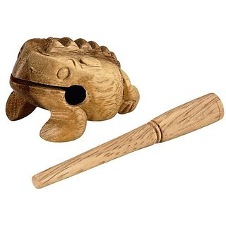 Nino Percussion NINO517 Extra Small Wood Frog Guiro, Natural Finish