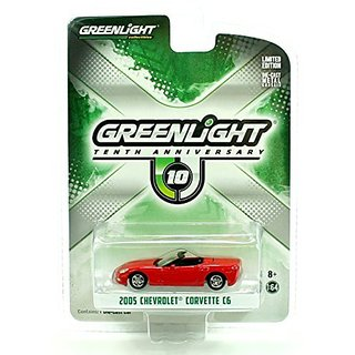 2005 Chevrolet Corvette C6 Red 10th Greenlight Anniversary Collection 1 64 by Greenlight 29789