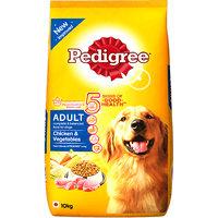 Pedigree (Adult - Dog Food) Chicken  Vegetables, 10 Kg Pack (Treats)