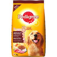 Pedigree (Adult - Dog Food) Meat  Rice, 3 Kg Pack (Treats)