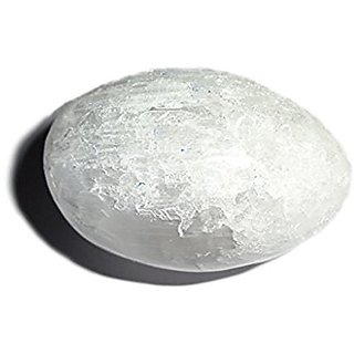 1pc Selenite Large Premium Crystal Healing Gemstone Information From Energy Egg Shaped Specimen - Brings Mental Clarity