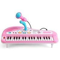 Kids Piano,Yamix Multi-function Educational Toy 37-Key Electronic Organ Music Keyboard Small Electronic Keyboard Piano O