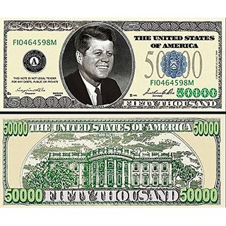 Set of 100 Bills - $50,000.00 Casino Party Money