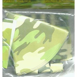 Camouflage Party Pack (4 HATS , 4 LOOT BAGS , 4 BLOWOUTS)