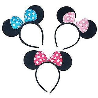 Adoara Minnie Mouse Felt Headbands h i Perfect for Parties, Dances, and Halloween, and as Party Favors or Simply a Beaut