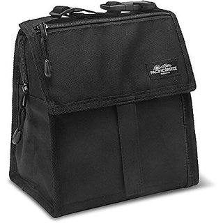 Pacific Breeze Foldable Lunch Bag (Black)