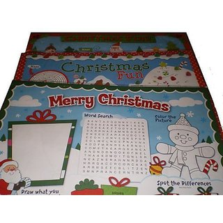 Childrens Holiday Activity Placemats - Set of 10 - Assorted Styles