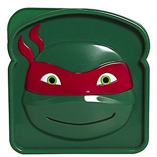 Evriholder Nickelodeon TMNT Sandwich Container, Red Green, Purple Green, Orange Green and Blue Green