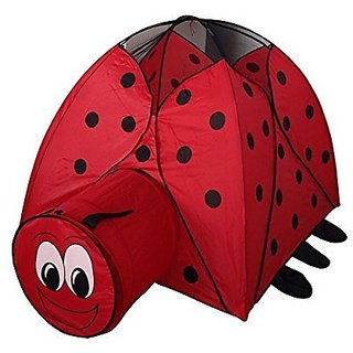 Red Beetle Kids Play Hut Outdoor Indoor Fun Play Big Tent Playhouse Pop Hut Play Pit Balls Pool