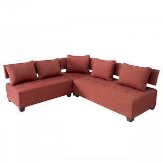Gioteak Gleeful L Shape corner sofa set red color