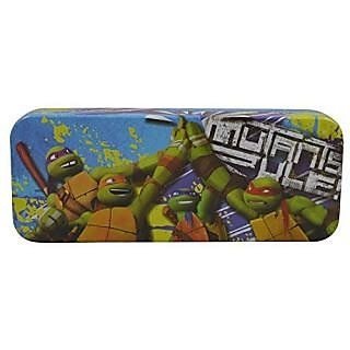 Nickelodeon Ninja Turtles - Metal Tin Case Pencil Box (Blue)