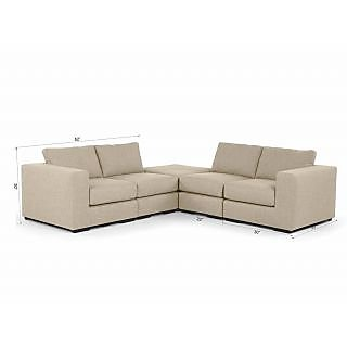 Gioteak Gliss Modular 4 seater adjustable sofa set with corner sofa