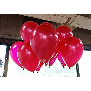 10-inch red latex balloons 100 bag