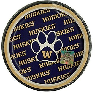 Bulk Buys University of Washington Dessert Party Plates - 24-PK