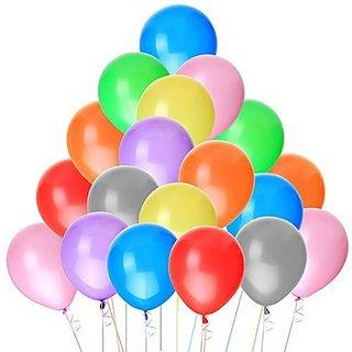 NUOLUX 100pcs Latex Balloons 10 Inch Bright Color (Random Color)