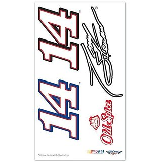Tony Stewart Official NASCAR 4 inch x 7 inch Temporary Tattoos by Wincraft