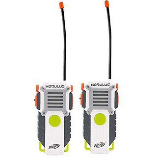 Nerf Walkie Talkie Set (2 Piece), White Orange