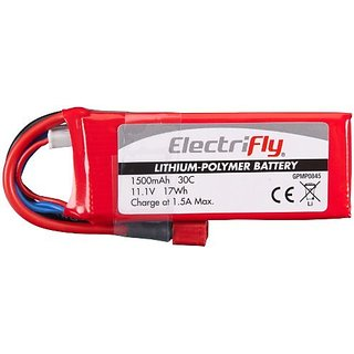 Great Planes LiPo 3S 11.1V 1500mAh 30C Electrifly with ULT Plug