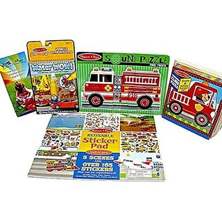 Melissa & Doug Water Wow Vehicle Learning Toy Gift Bundle: Puzzle, Sticker & Color Activities Age 3+