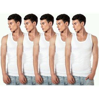 Collge boy white men vests pack of 5
