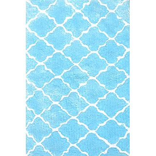 The Rug Market 03104B Handmade Rugs, Cloture Blue, Multicolor