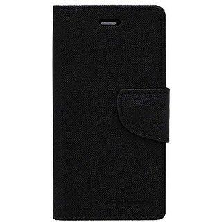 Vinnx Premium Quality PU Leather Magnetic Lock Wallet Flip Cover Case for Micromax Unite 2 A106  - Black