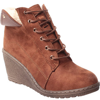 MSC ANKLE LENGTH SUEDE BROWN BOOTS (MSC-RR78-3655-3-BROWN BOOTS)