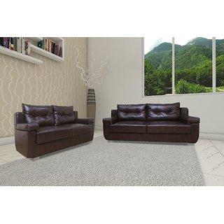 FNU  Five Seater Sofa Set 3-2 (Brown )