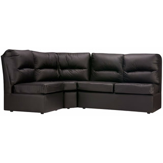Elzada Comfy Modular L Shape Sofa In Black Colour By Fabhomedecor(Fhd193)