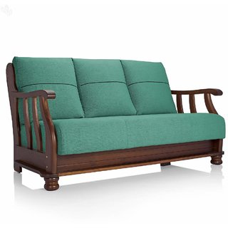 Vive Prestige Three-Seater Sofa with Teal Upholstery