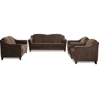 FNU Seven Seater Sofa Set 3+2+1+1 (Wheat Brown)