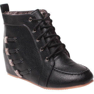 MSC-ANKLE LENGTH BLACK BOOTS (MSC-RR79-772-5-BLACK BOOTS)