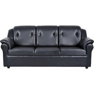 Fabhomedecor - York Leatherette Three Seater Sofa