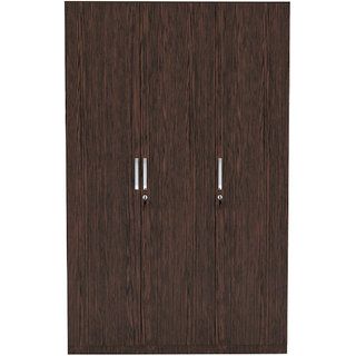 INTEX STYLES - FEDRAL THREE DOOR WARDROBE (WENGE COLORED)