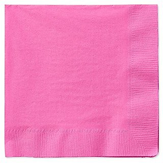 American Greetings Lunch Napkins (50 Count), Bright Pink