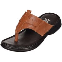Kolapuri Centre Men's Brown,Tan Slip On Outdoor Sandals - 103265087