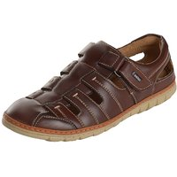 Kolapuri Centre Men's Brown,Tan Slip On Outdoor Sandals