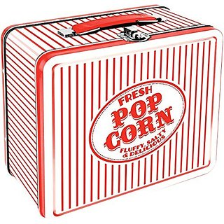 Aquarius Vintage Popcorn Large Tin Fun Box