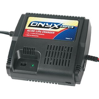 Duratrax Onyx One-Fifty AC DC Balancing LiPo Charger with Power Supply, Connectors and Cooling Fan