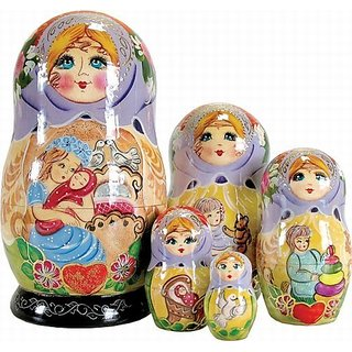 G. Debrekht Mother Love Nested Doll, 6