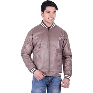 Adi  Adi Brown Round Neck Long Sleeve Jacket For Men