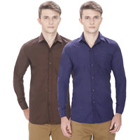 Routeen Multicolor Full sleeves Casual Shirt For Men