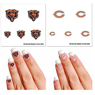 Chicago Bears Fingernail Tattoo Fan Pack